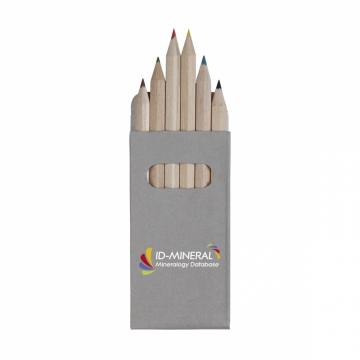 Sixcolour crayons de couleur