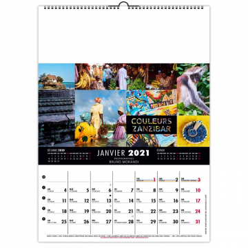 CALENDRIER MURAL COULEURS...