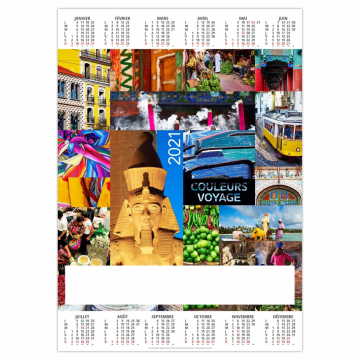 POSTER COULEURS VOYAGE 2021
