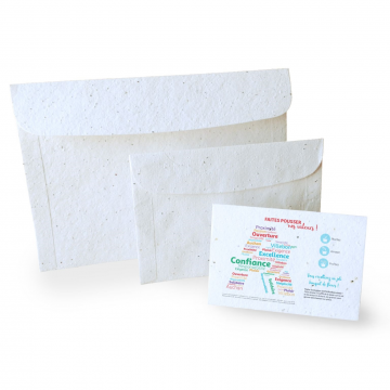 enveloppe en papier graines...
